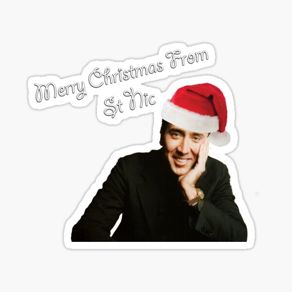 Greetings from St Nicolas Cage Sticker