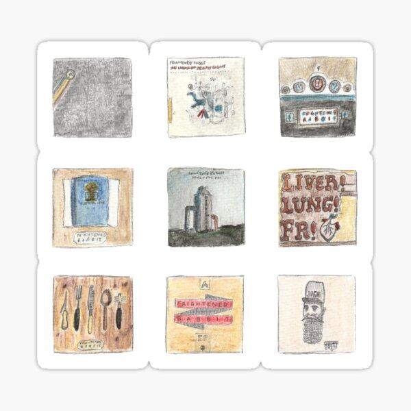 Watercolour albums - Frightened Rabbit Sticker