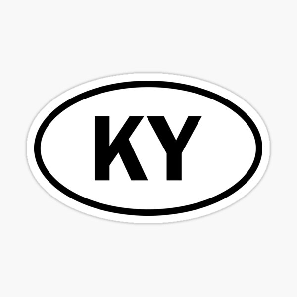 Kentucky - KY - oval sticker and more Sticker