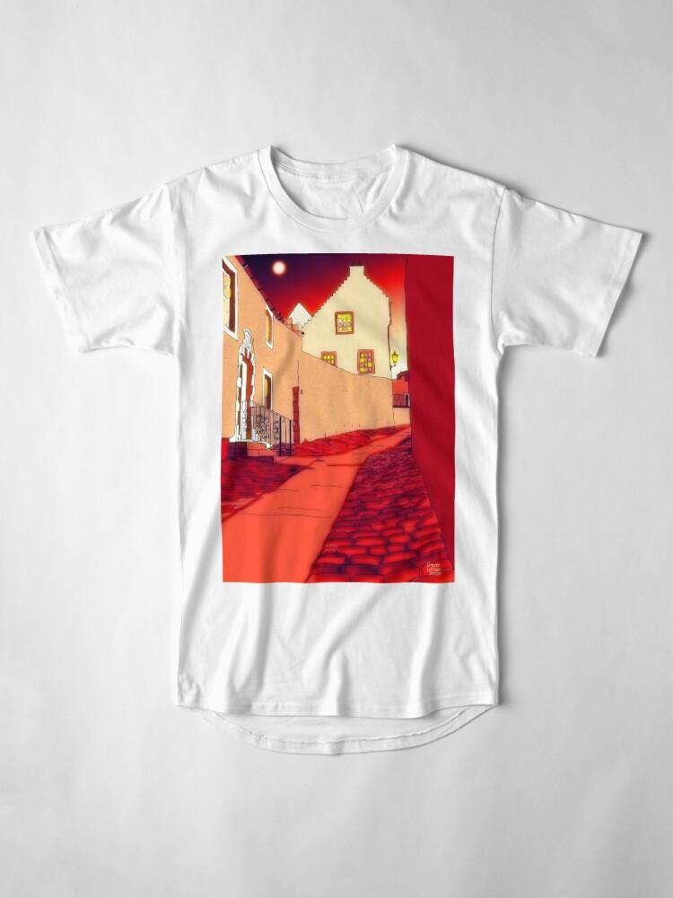 Alternate view of Dysart: Scottish Town digital drawing Long T-Shirt