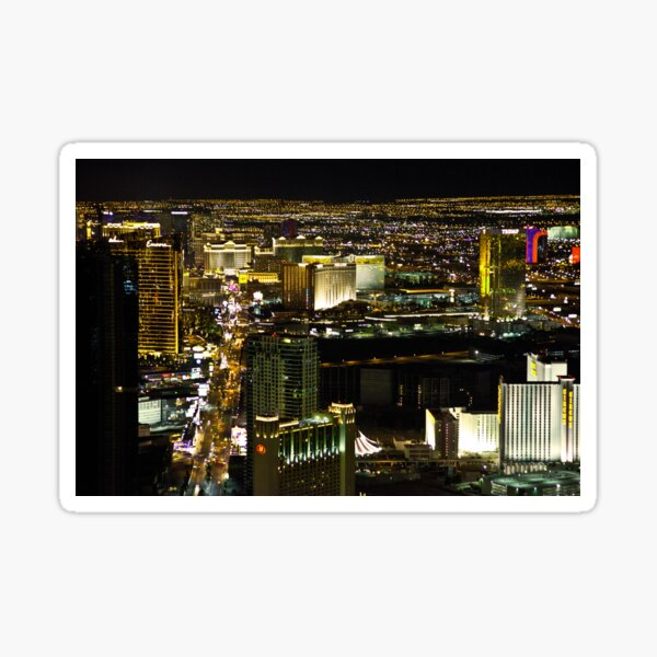 The Strip from the Stratosphere Sticker
