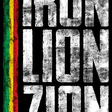 iron lion zion reggae - dein neues Raggae-Shirt, der Festivalsommer kann kommen! von Periartwork
