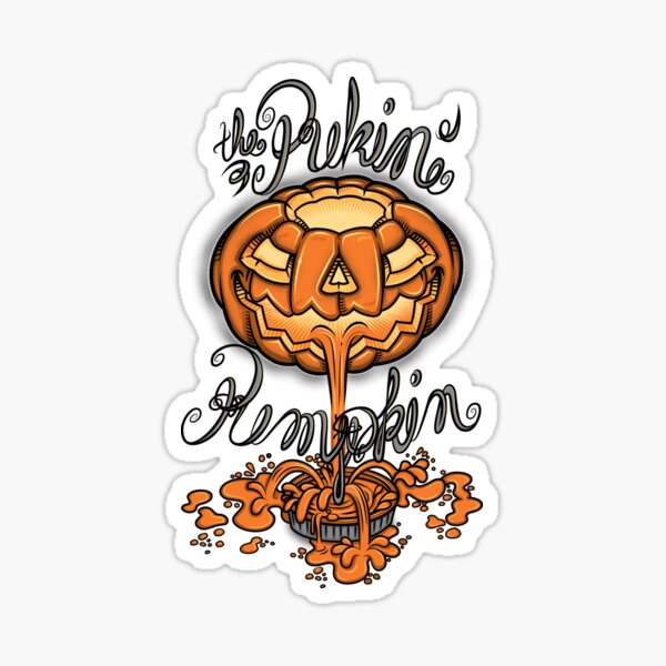 the pukin' pumpkin Pegatina