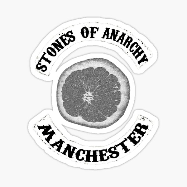 Stones Of Anarchy Manchester (Sons of Anarchy inspired) Sticker