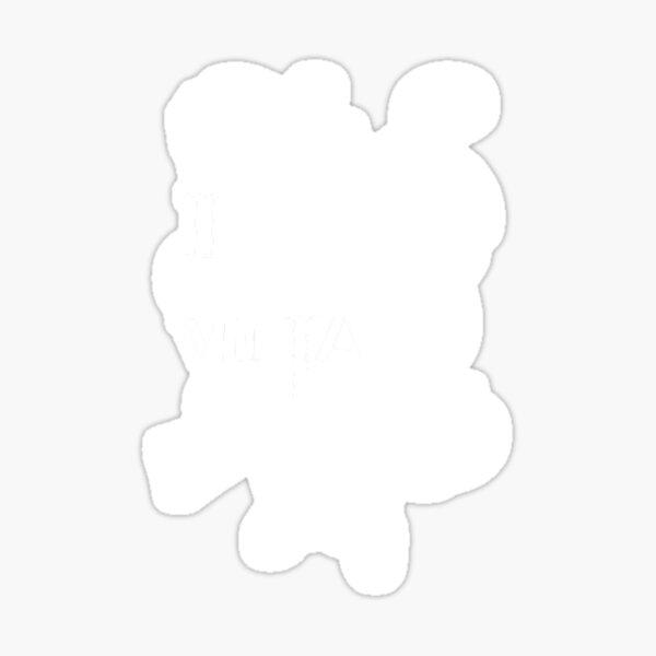I Play Vidja Games (White) Sticker