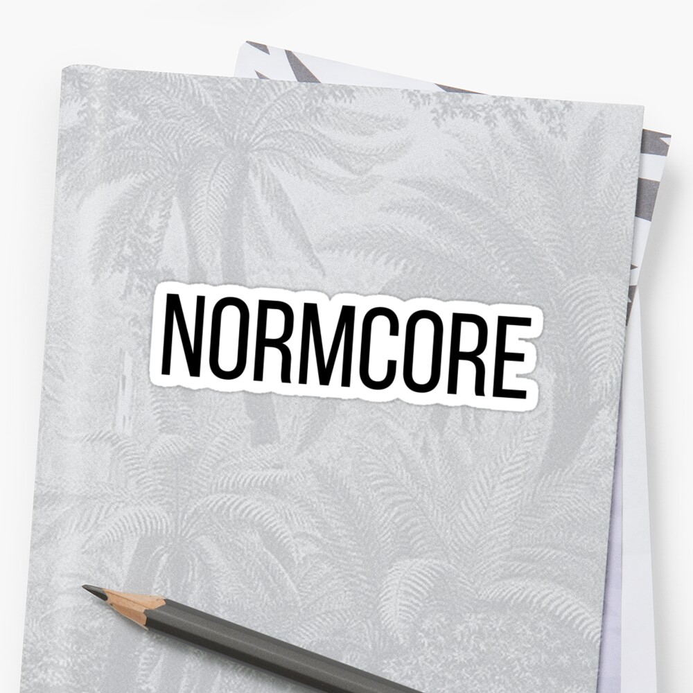 NORMCORE white HARDCORE NORMAL Sticker