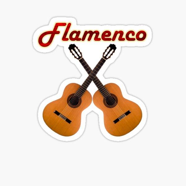Guitarra flamenca Pegatina