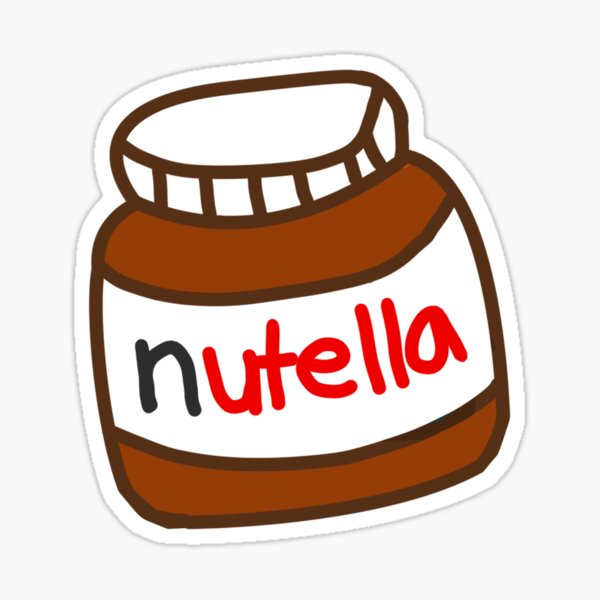 Cute Tumblr Nutella Pattern Sticker By Deathspell Redbubble