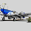 The Dogs of War: P51 Mustang by siege103