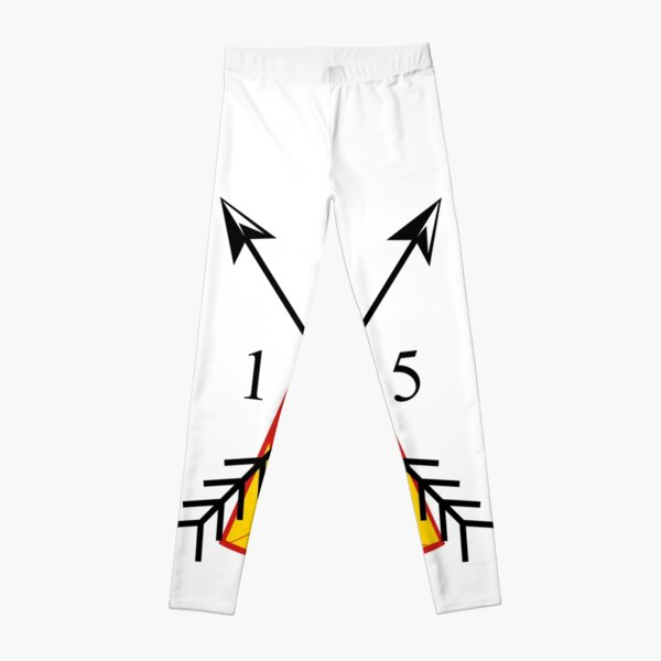 Red And Yellow TeePee 15 Arrowheads Leggings