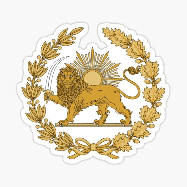 Lion & Sun Emblem of Persia (Iran) Sticker