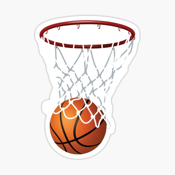 Basketball and Hoop Net Sticker