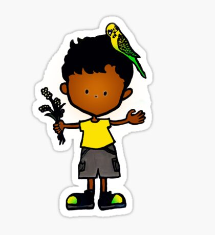 Budgie Boy A Sticker