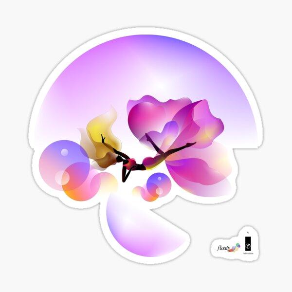 Floaty illustrate purple flower  Sticker