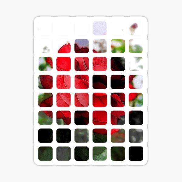 Red Rose Edges Art Rectangles 1 Sticker