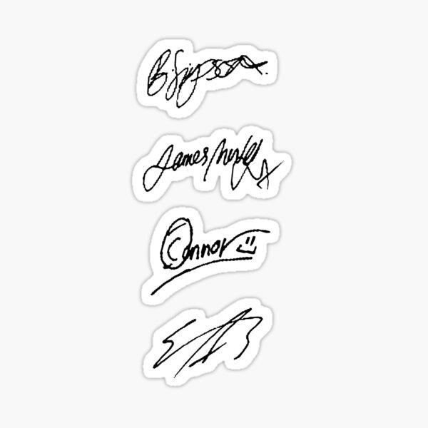 The Vamps signatures Sticker