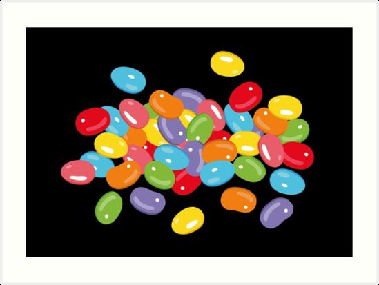 Ostern Jelly Beans Bonbons Süßigkeiten Osterfest von Christine Krahl