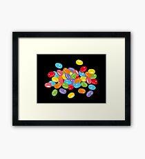 Ostern Jelly Beans Bonbons Süßigkeiten Osterfest Gerahmtes Wandbild