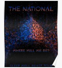 Das nationale Schlafbrunnen-Tier Poster