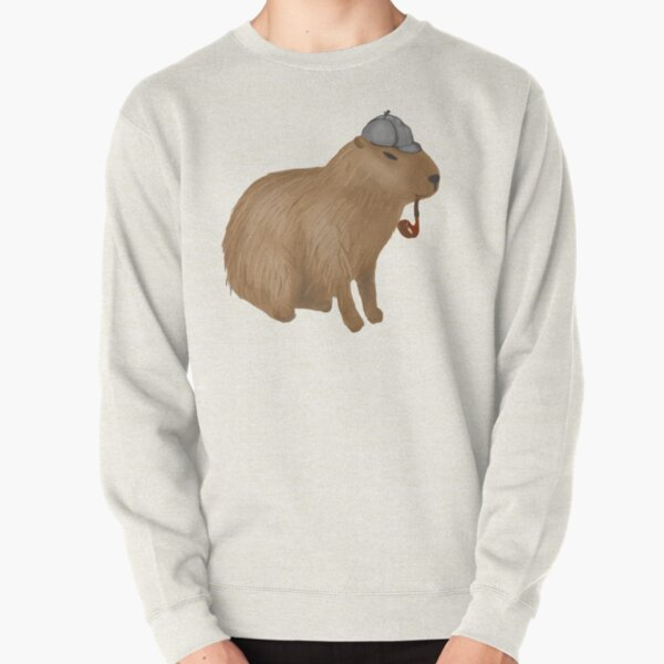 Sherlock capybara Pullover Sweatshirt