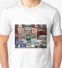 HOCKEY ART PAINTINGS MONTREAL DEPANNEUR BEST CANADIAN PAINTINGS Unisex T-Shirt