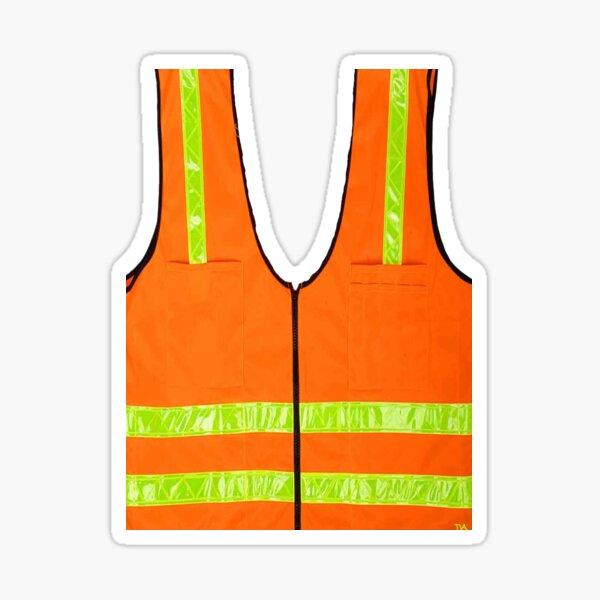 reflective vest safety halloween costume security  Sticker