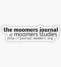 Moomers Journal Sticker -- black on white Sticker