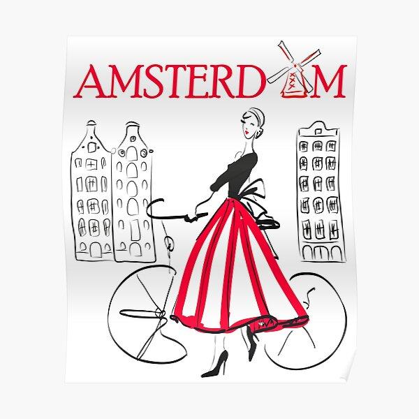 Amsterdam T-Shirts - Amsterdam accessories - Amsterdam gift - Women and Men Accessories Amsterdam - Amsterdam print Poster
