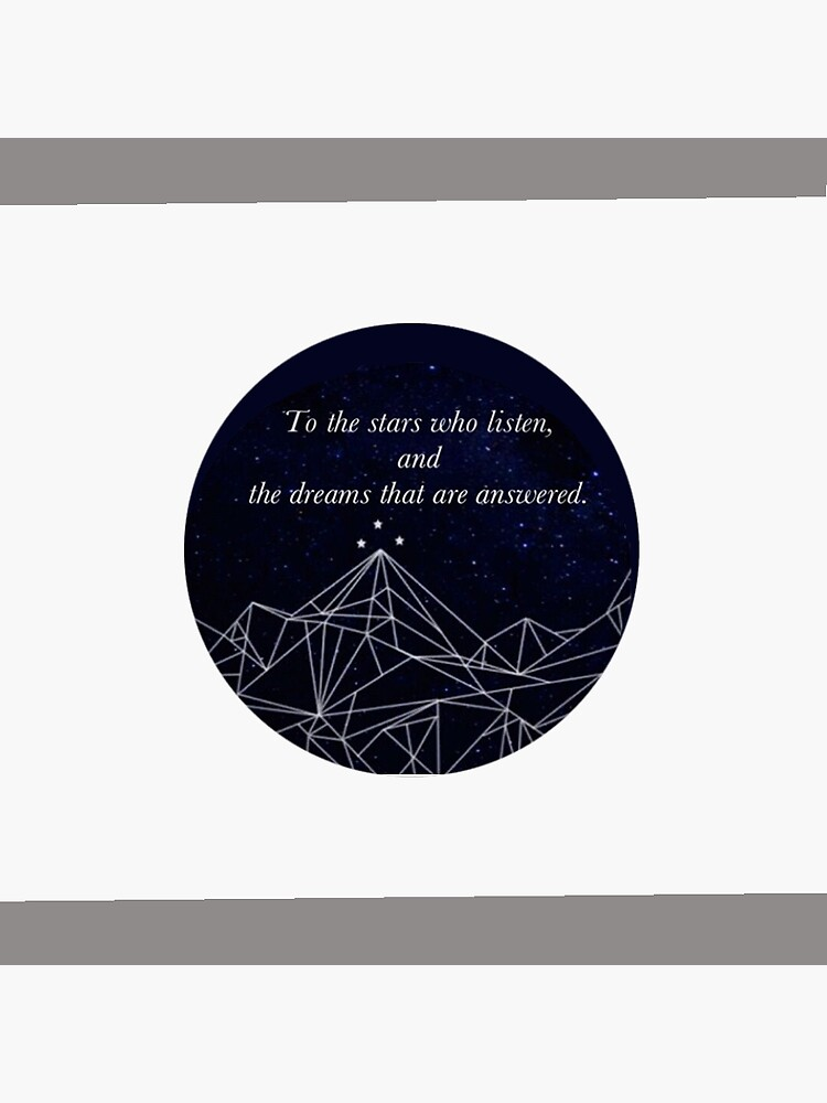 ACOMAF To the Stars who listen Pop Socket sized sticker by Hallows03
