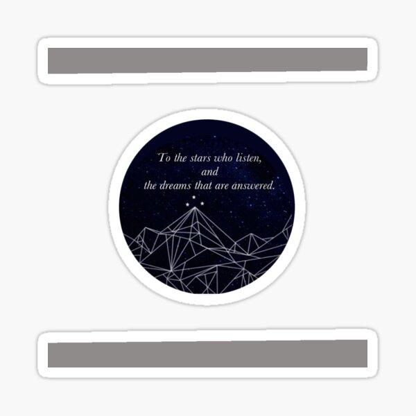 ACOMAF To the Stars who listen Pop Socket sized sticker Sticker