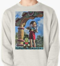 Sudadera cerrada PINOCCHIO AND JIMMY CRICKET (VERSION THREE)(A FAVORITE MEMORY OF MINE) PICTURES-CARDS-PILLOWS-TOTE BAGS-ECT..
