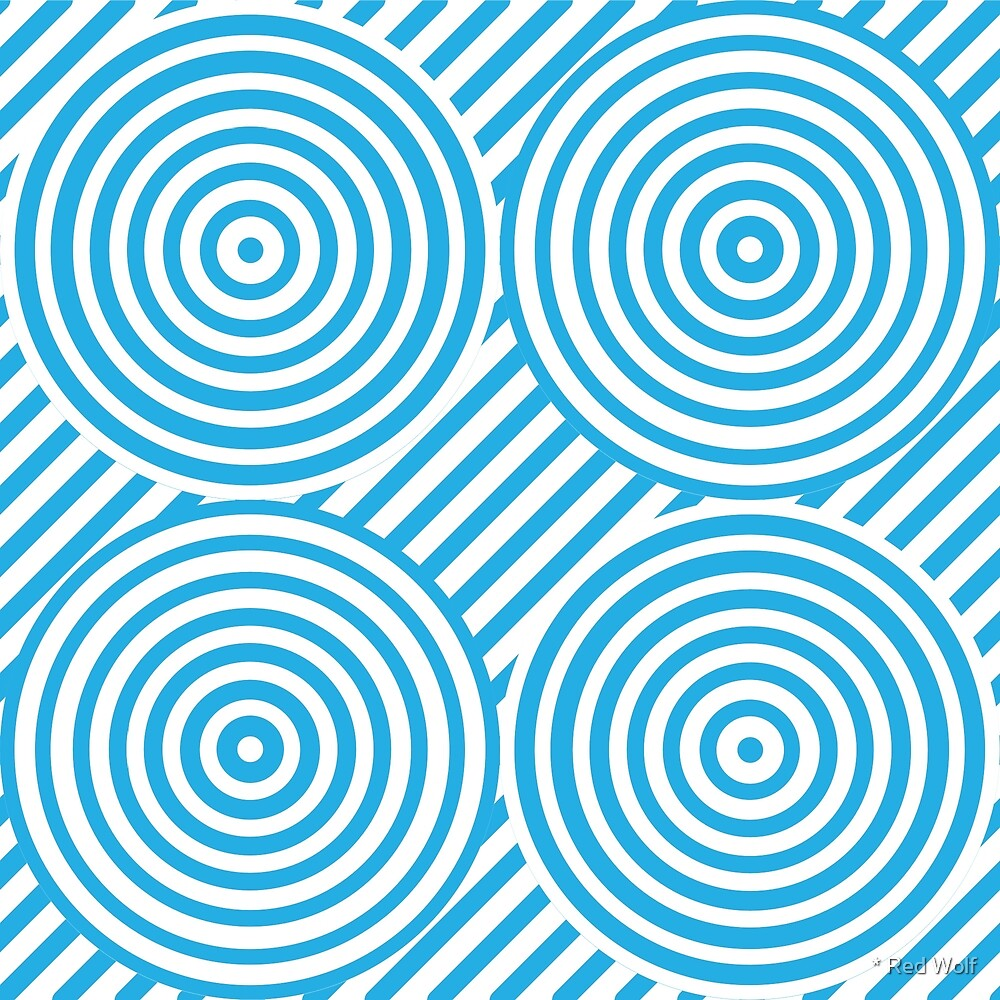 Geometric Pattern: Circle Strobe: Blue/White by * Red Wolf