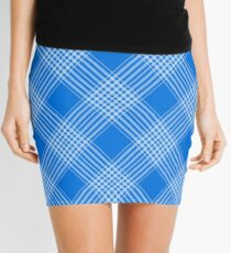 Blue Checks Mini Skirt