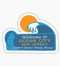 Pegatina Ocean City - Nueva Jersey.