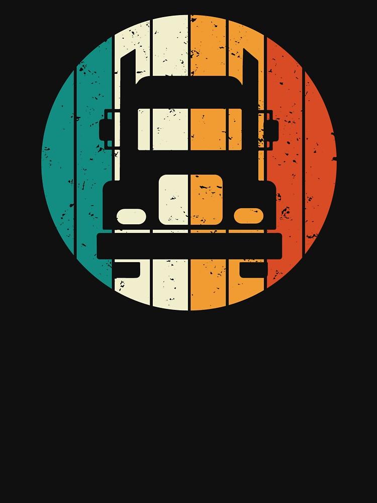 Retro Vintage Truck Cool Trucker T-shirt by zcecmza