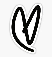 Lovatic Heart - Black Sticker