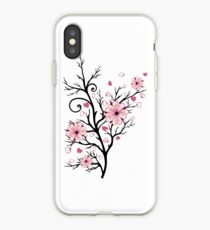 Kirschbaum Kirschblüten mit Herzen Sakura Frühling iPhone-Hülle & Cover