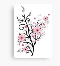 Kirschbaum Kirschblüten mit Herzen Sakura Frühling Metalldruck