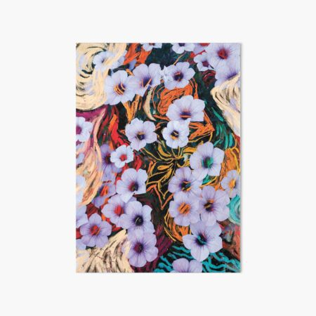 floating ethereal flowers abstraction Art Board Print