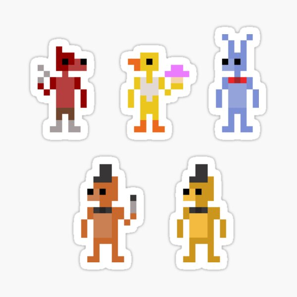 FNAF- Pixel Party! Sticker