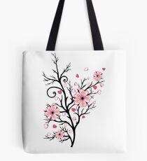 Kirschbaum Kirschblüten mit Herzen Sakura Frühling Tasche