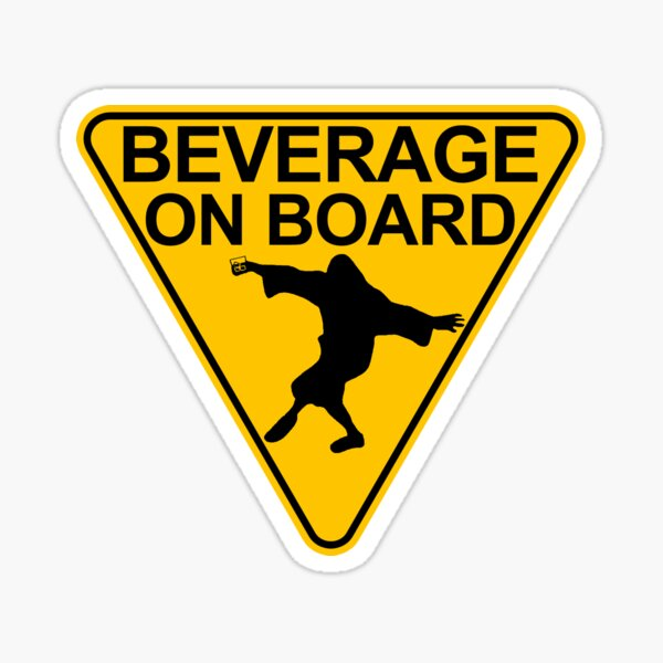 "Big Lebowski ""Beverage On Board"" Sticker Sticker"