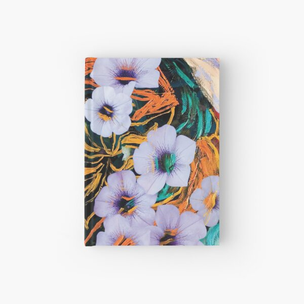 floating ethereal flowers abstraction Hardcover Journal