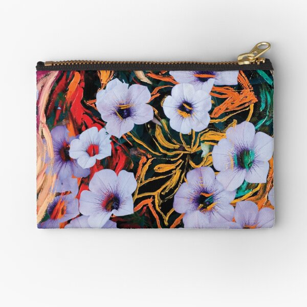 floating ethereal flowers abstraction Zipper Pouch