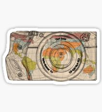 Travel The World With A Camera Sticker