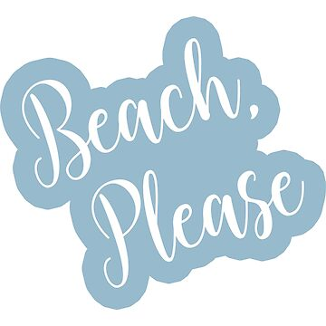 Copy of Beach Please Bold Script Text on a Pink Background by CafePretzel