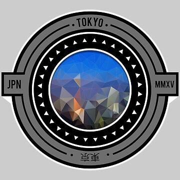 Geometric Tokyo Cityscape  by fantastique2411