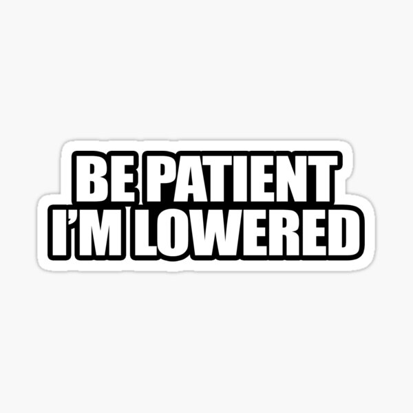 Be Patient I'm Lowered Sticker