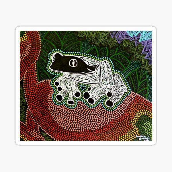 Aboriginal Frog II / Rana Aborigen II Pegatina