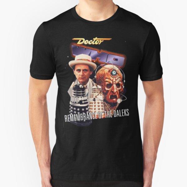 Remembrance Of The Daleks - VHS Artwork Slim Fit T-Shirt
